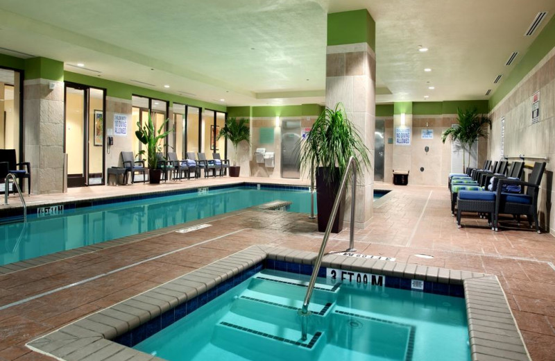 Indoor pool at Hilton Asheville Biltmore Park.