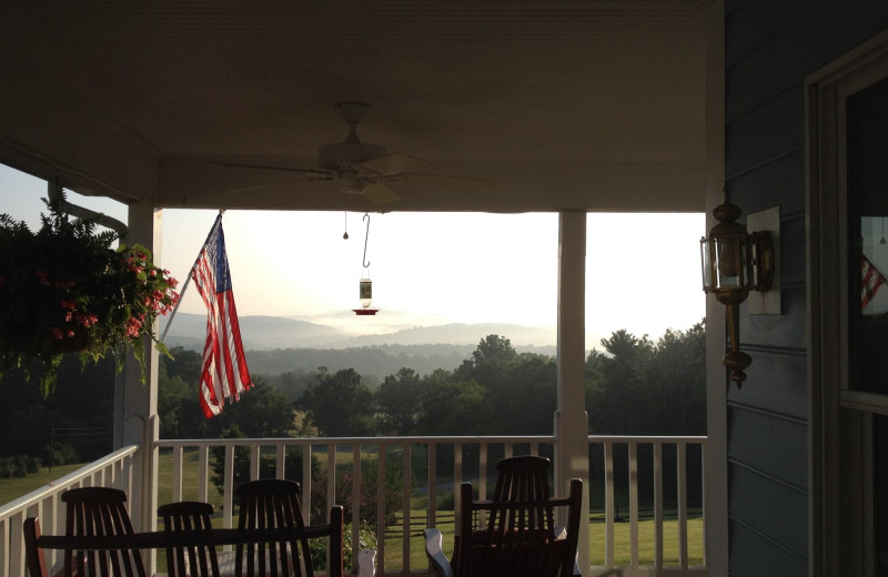 Porch view at Brierley Hill Bed and Breakfast.