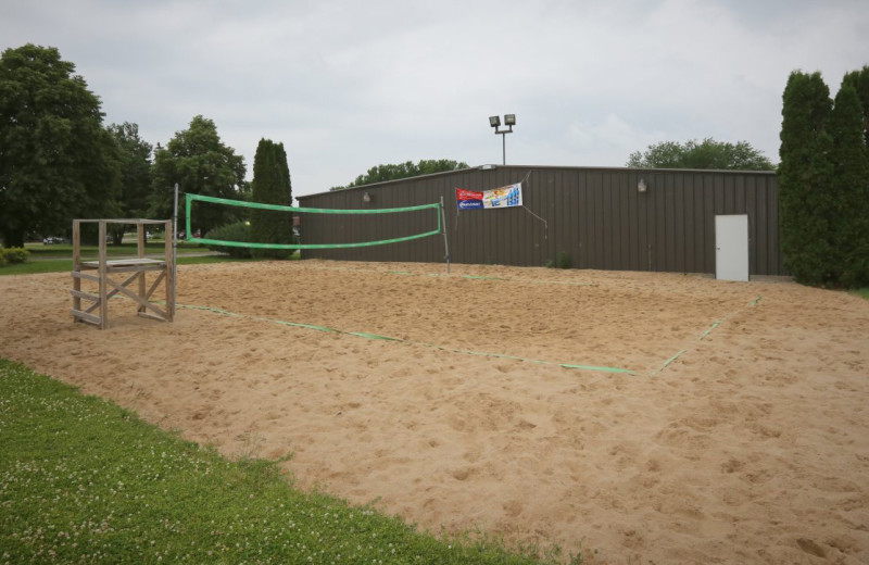 Volleyball court at Coachman's Golf Resort.
