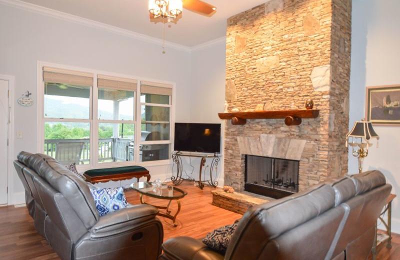 Rental living room at Little Bear Rentals.