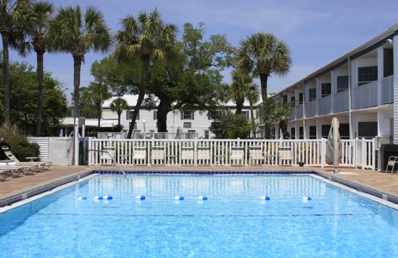 Outdoor pool at Marina Bay Resort.