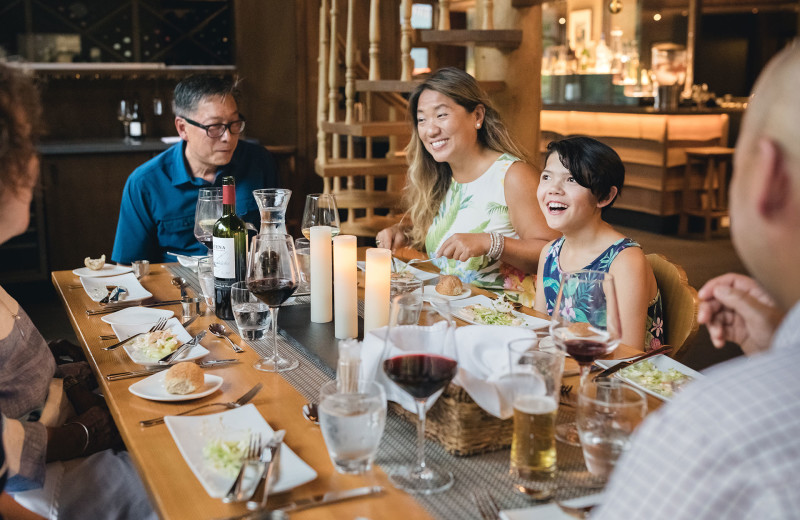 Family dining at Cariboos Lodge.