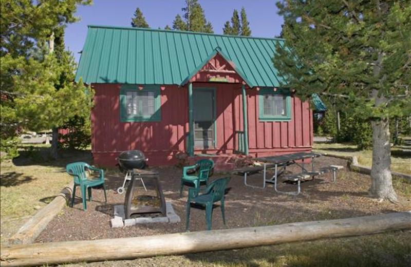 Cabin exterior at East Lake Resort.