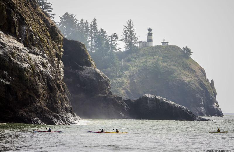 Kayaking at Oceanfront Getaways.