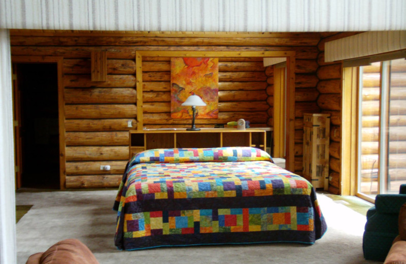 Guest room at Montana Island Lodge.