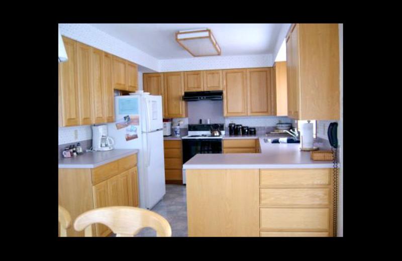 Rental kitchen at Manzanita Rental Company.