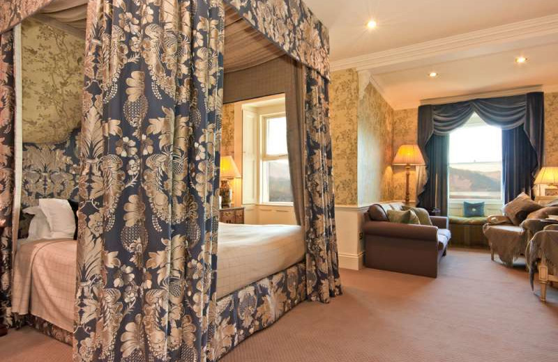 Guest room at Sharrow Bay Country House Hotel.
