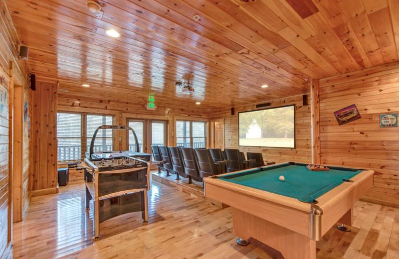 Rental game room at Vacation Rental Pros - Gatlinburg.