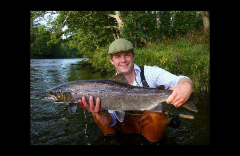 Fishing at Minmore House Hotel.