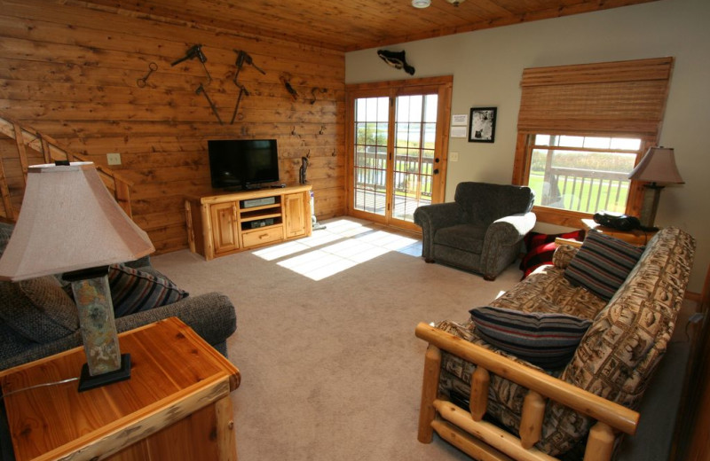 Guest living room at White Birch Resort.