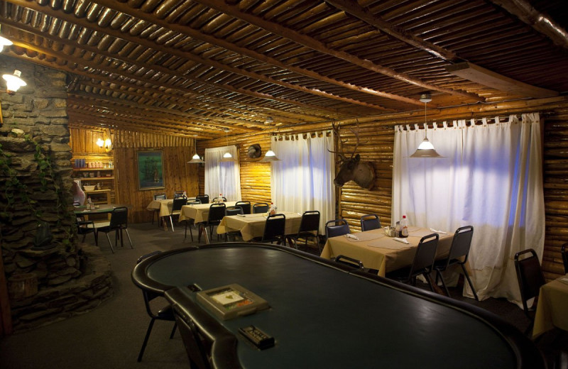 Dining at Arctic Lodges.