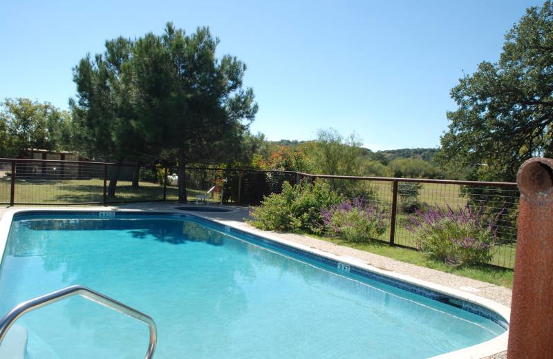 Outdoor pool at Fredericksburg Ranch.