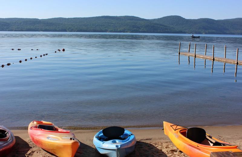 Kayaks at Trout House Village Resort.