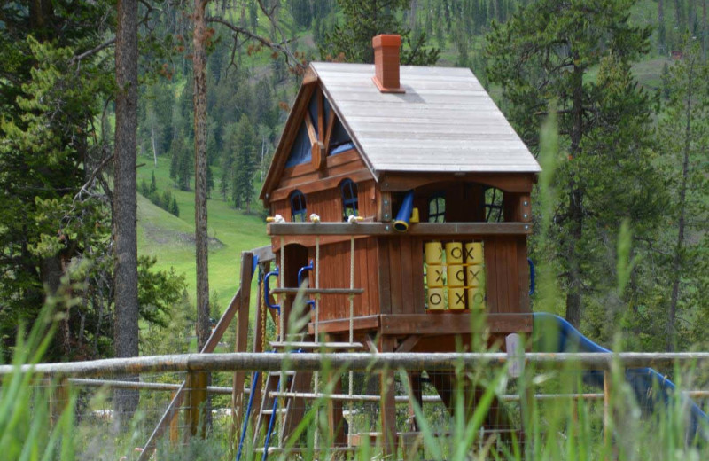 Kid's playground at Shoshone Lodge & Guest Ranch.