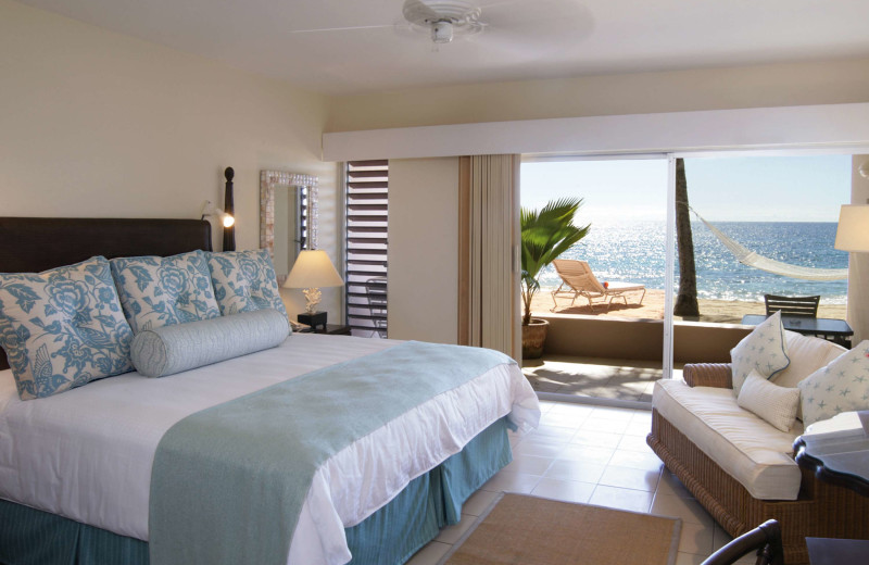 Guest room at Curtain Bluff Resort.