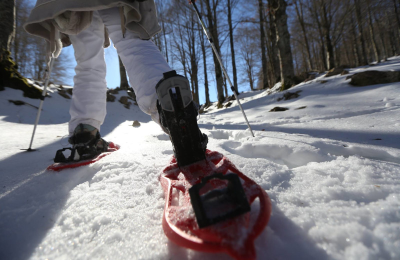 Snowshoeing at Finger Lakes Premiere Properties.