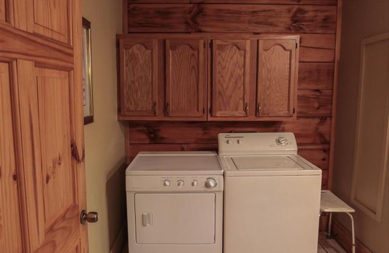 Cabin laundry room at Dogwood.