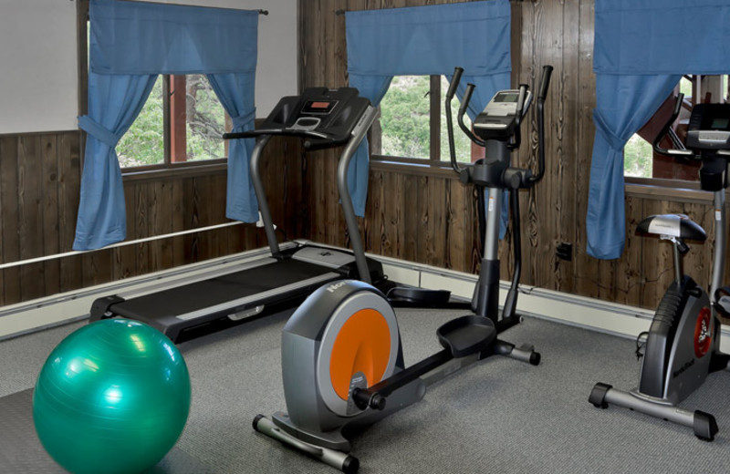 Fitness room at Colorado Trails Ranch.