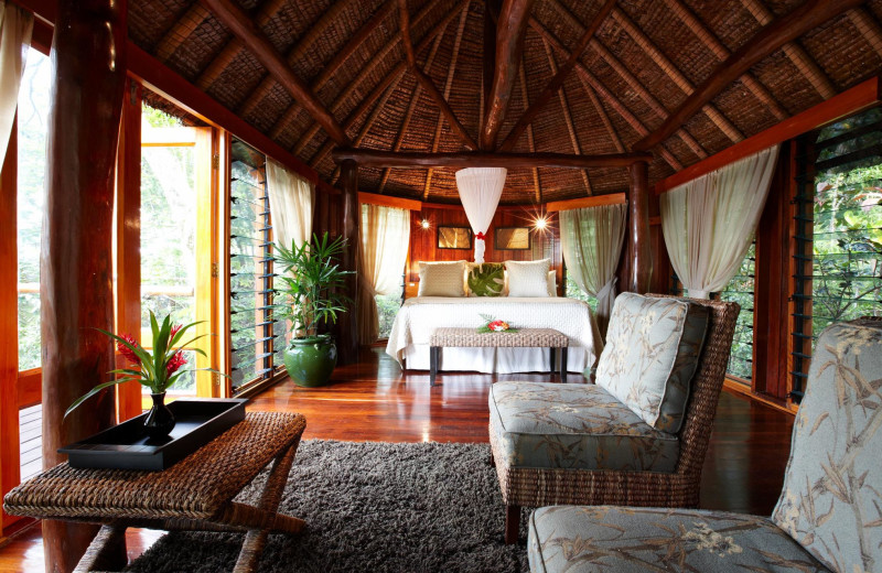 Guest room at Namale Resort.