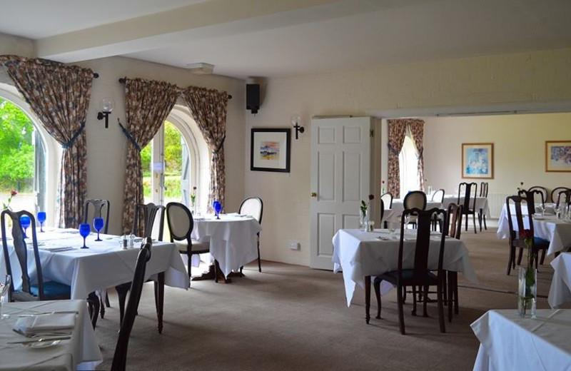 Dining room at Taychreggan Hotel.