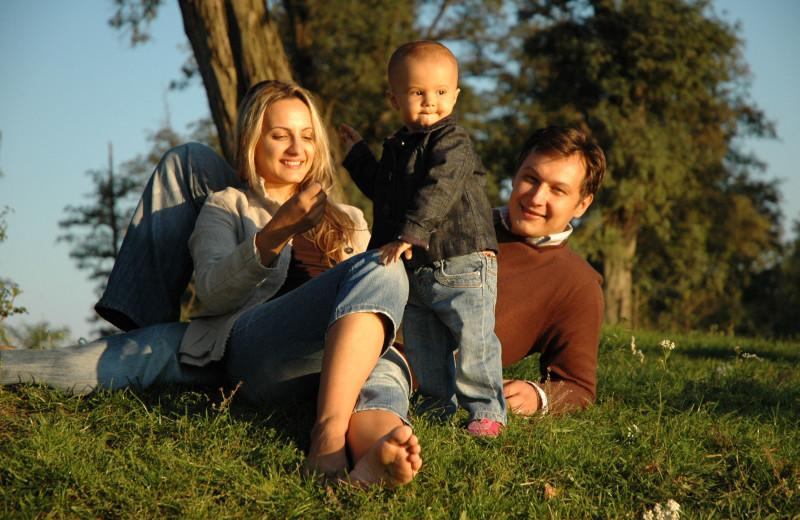 Family at Pine Lakes Lodge.
