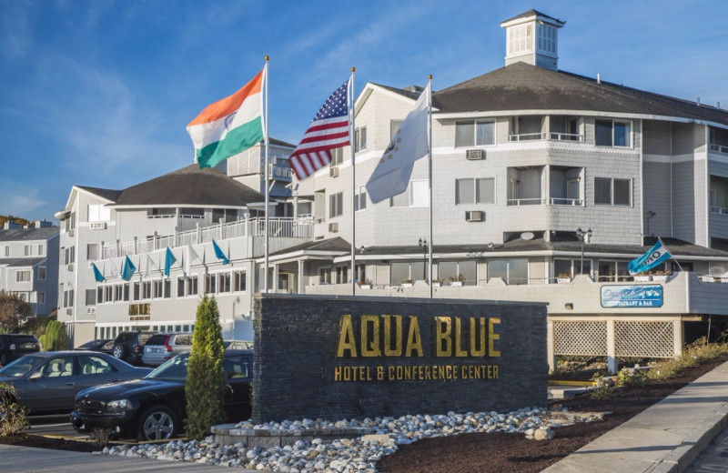 Exterior view of Aqua Blue Hotel.