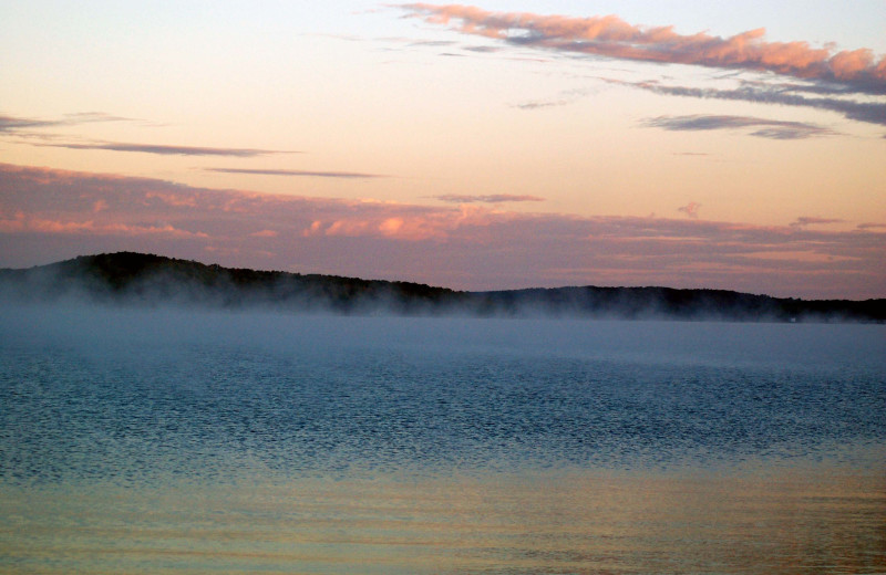 Walloon Lake is just a short drive from Elvyn Lea Lodge