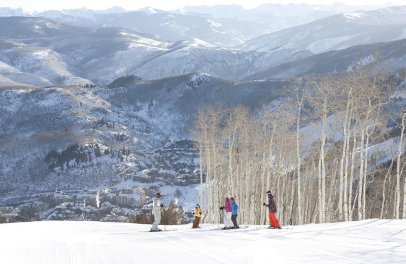 Family skiing at The Charter at Beaver Creek.