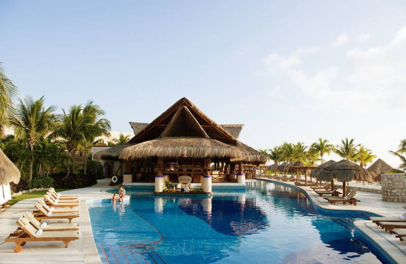 Outdoor pool at Excellence Riviera Cancun.