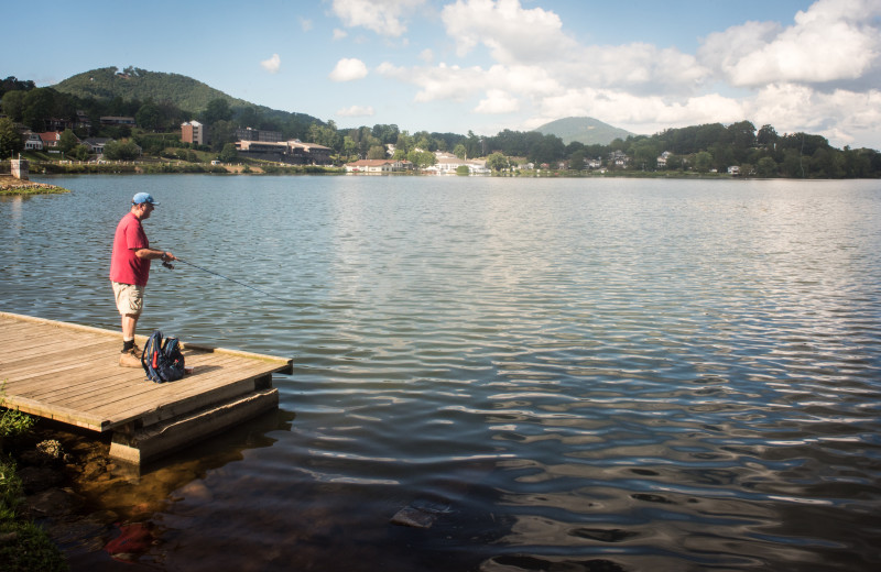 Lake Junaluska offers many places, piers and docks from which to fish.