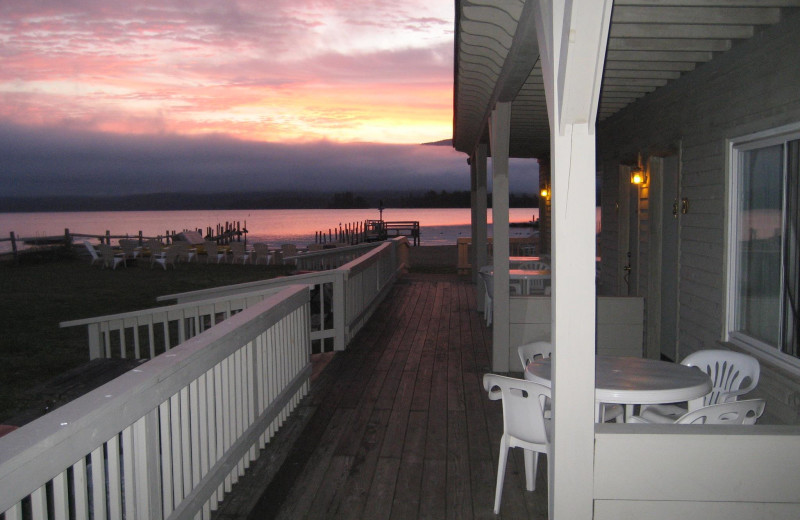 Deck view from Golden Sands Resort.