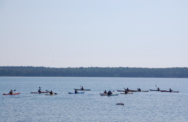 Kayaking at Rowleys Bay Resort.
