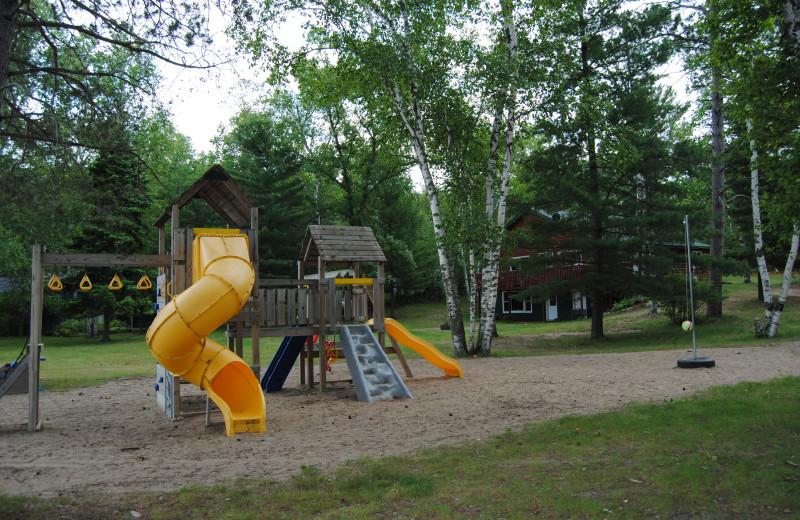 Kid's playground at Sandy Pines Resort.