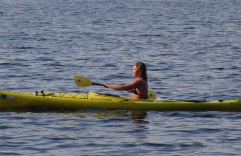Kayaking at Woodland Beach Resort.