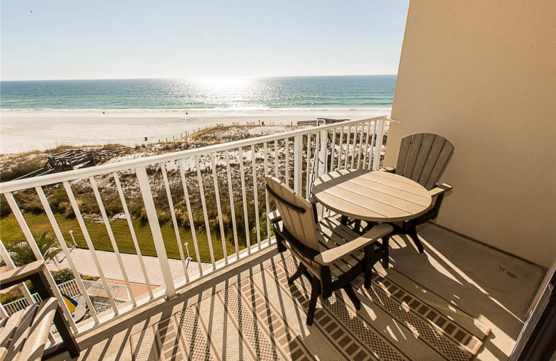 Balcony view at Holiday Isle Properties - Destin on the Gulf 505.