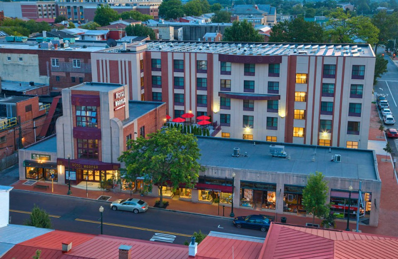 Aerial View of The Hotel Warner