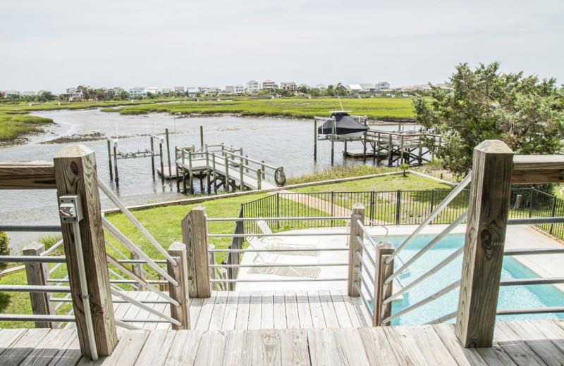 Rental view at Oak Island Accomodations.
