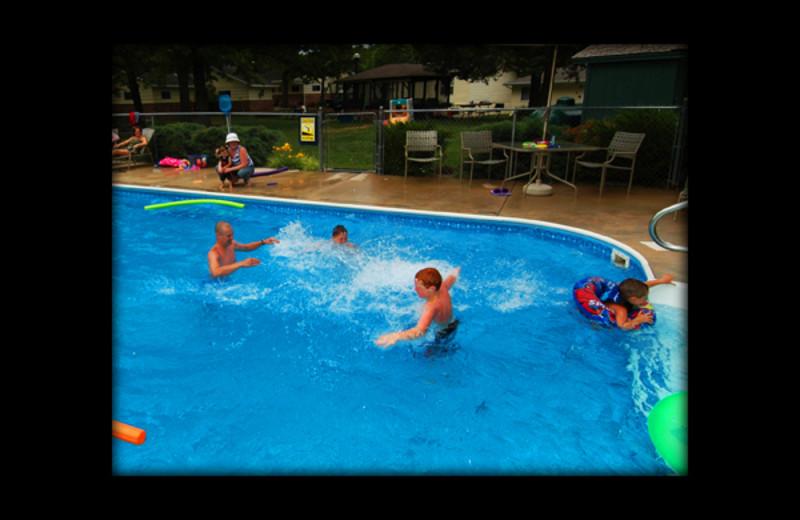 Outdoor pool at Shadrack Resort.