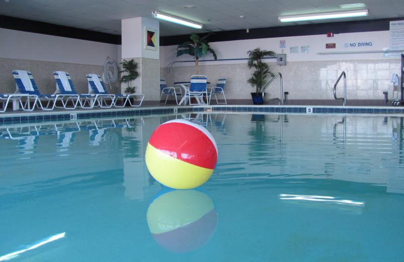 Indoor swimming pool at Grand Hotel & Spa.