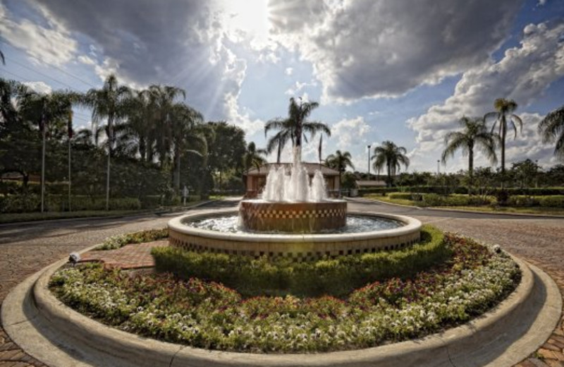 Fountain at Westgate Town Center.