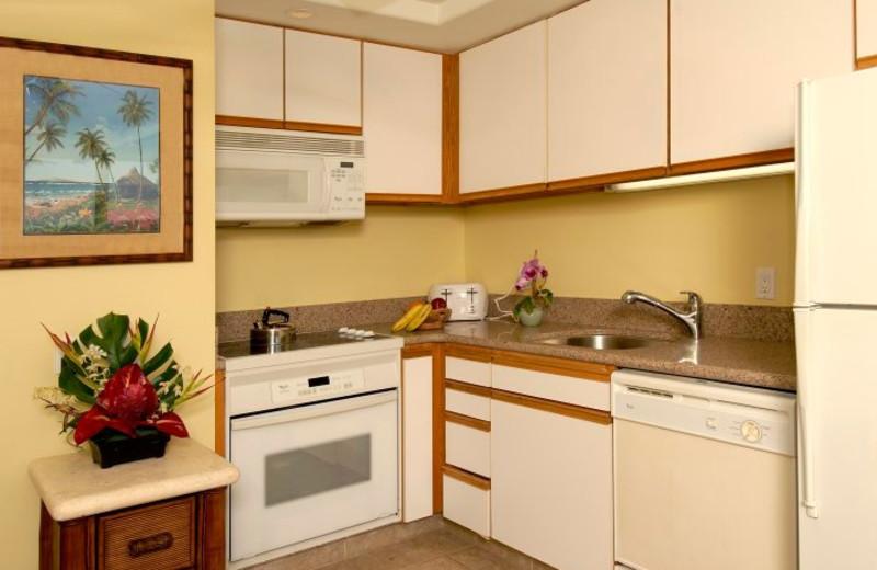 Vacation rental kitchen at Mana Kai Maui.