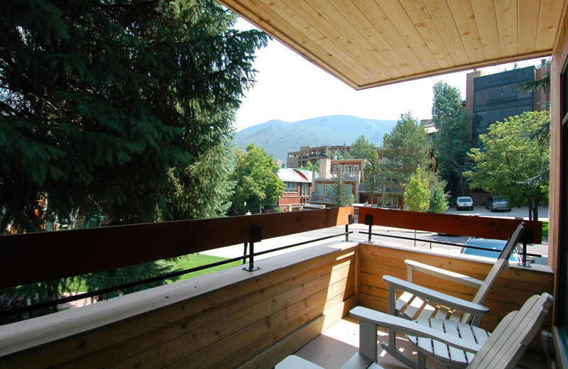 Balcony view at Frias Properties of Aspen - Fasching Haus #180.
