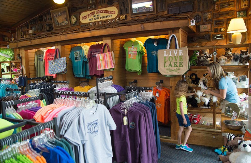 Shop at Gaston's White River Resort.