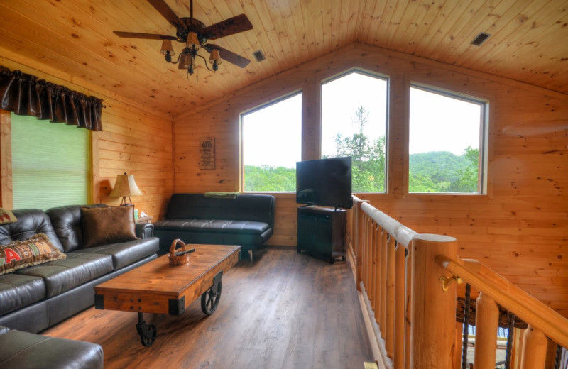 Rental loft at Smoky Mountain Cabins.