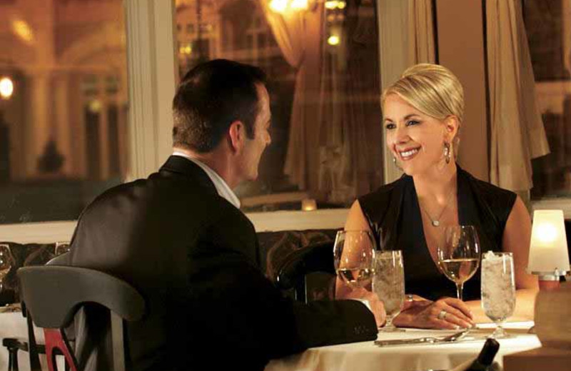 Couple dining at The Fairmont Banff Springs.
