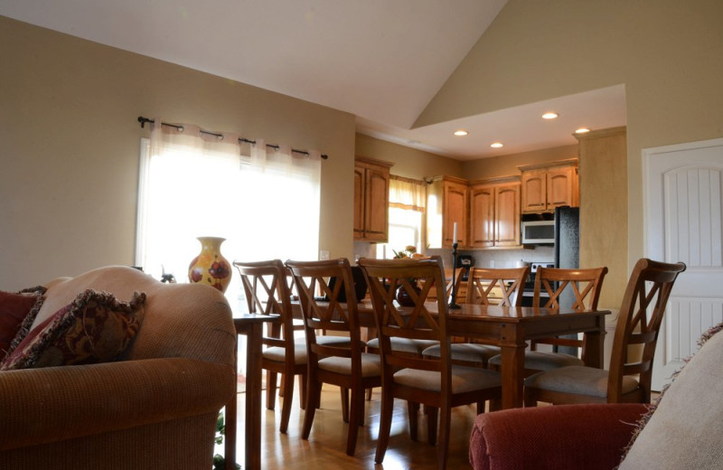 Rental kitchen and dining at Vacation Home in Branson.