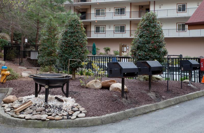BBQ at Holiday Inn Club Vacations Smoky Mountain Resort.