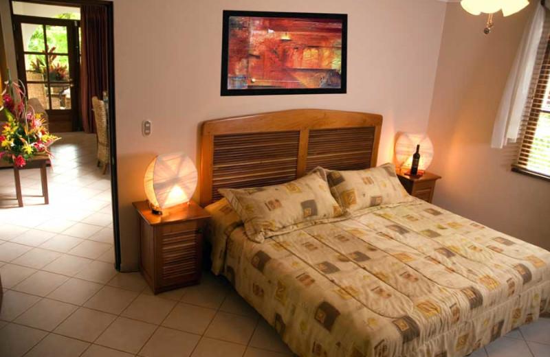 Guest room at Hotel Villa del Sueno.