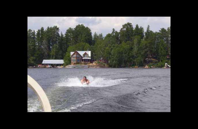 Water skiing at Red Pine Wilderness Lodge.