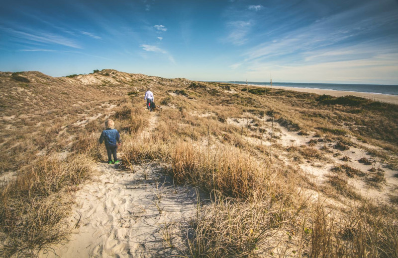 Beach hike at Realty World - First Coast Realty.